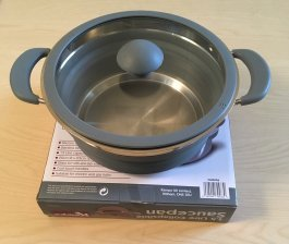 Collapsible saucepan 1.5L grey